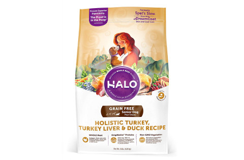 Halo Grain Free Senior Dog Food Holistic Turkey